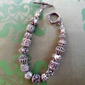 Jewelry - Sterling silver beaded bracelet